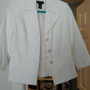 Rafaella lined blazer white
